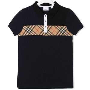 BURBERRY KIDS checked polo shirt